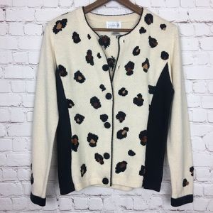 Vintage Just B Leopard Cardigan Small